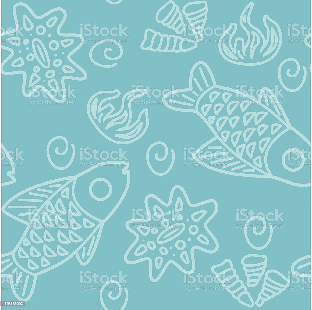 Seamless Sea Pattern royalty-free stock vector art