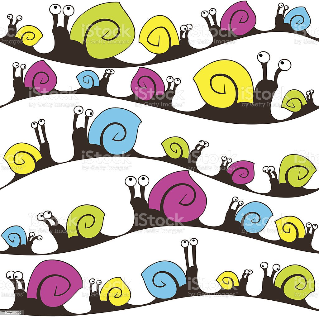 Seamless snail wallpaper royalty-free stock vector art