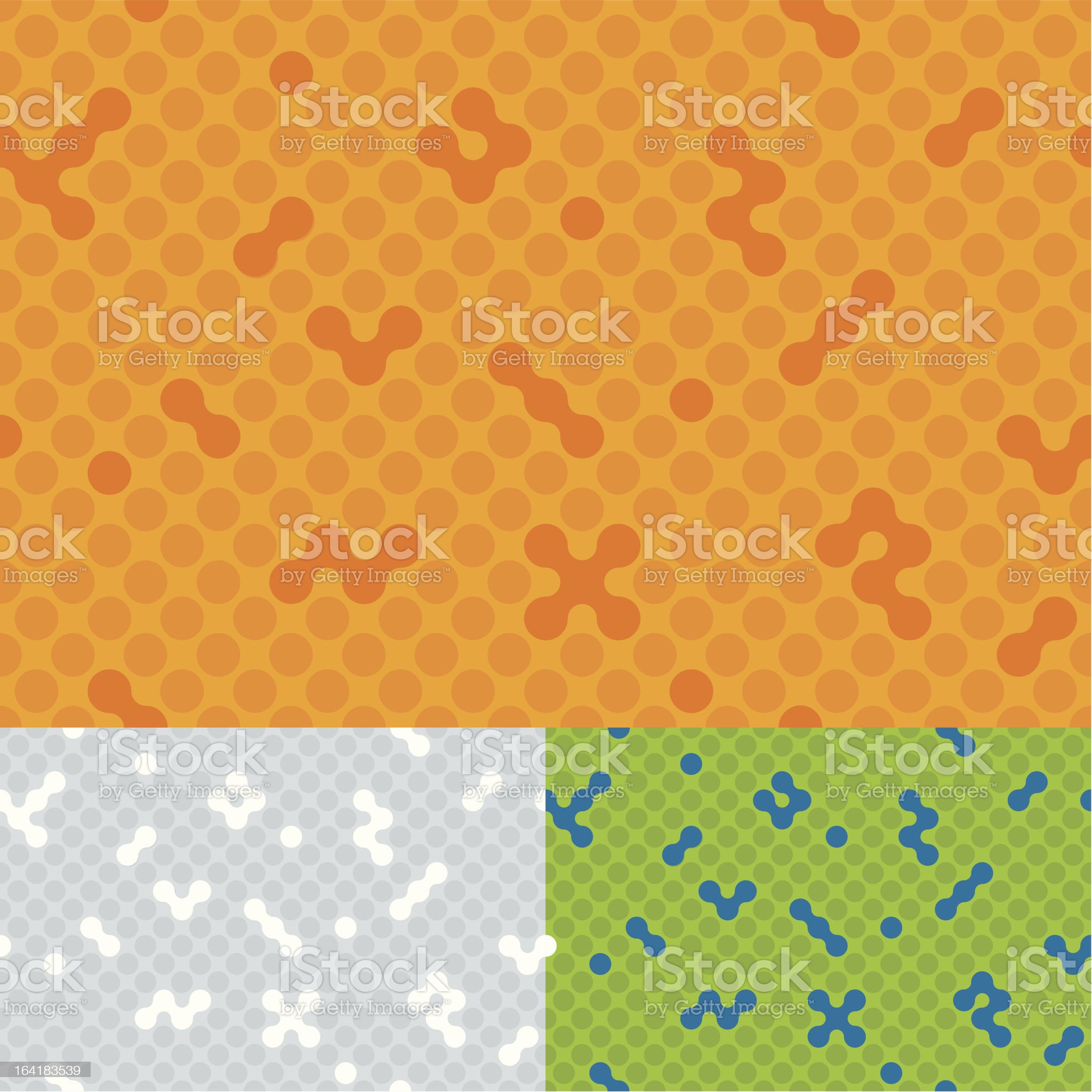Seamless spot background (vector) royalty-free stock vector art