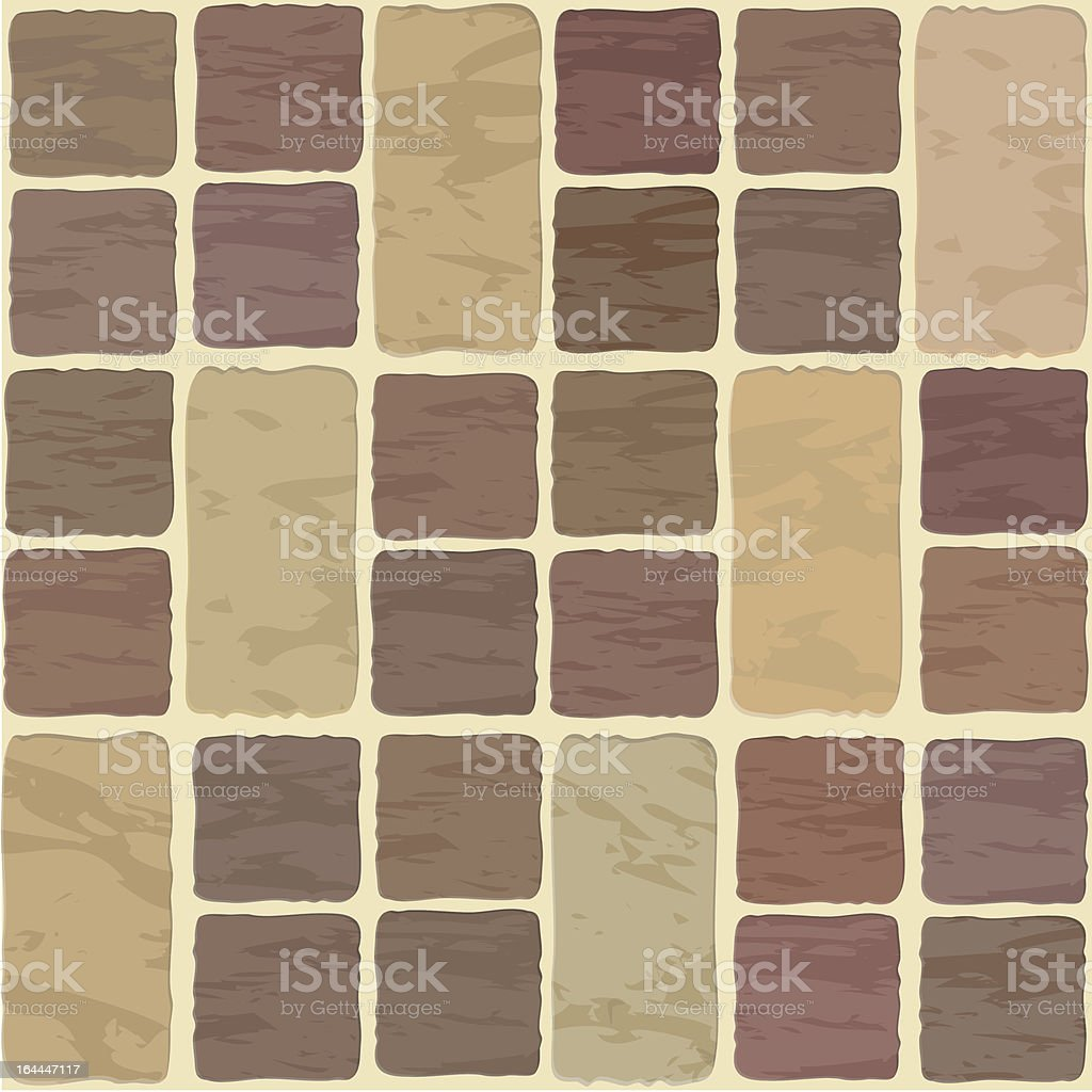 Seamless texture of stonewall tile royalty-free stock vector art