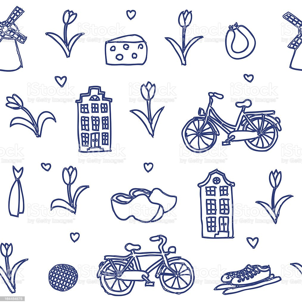 seamless vector Holland pattern vector art illustration
