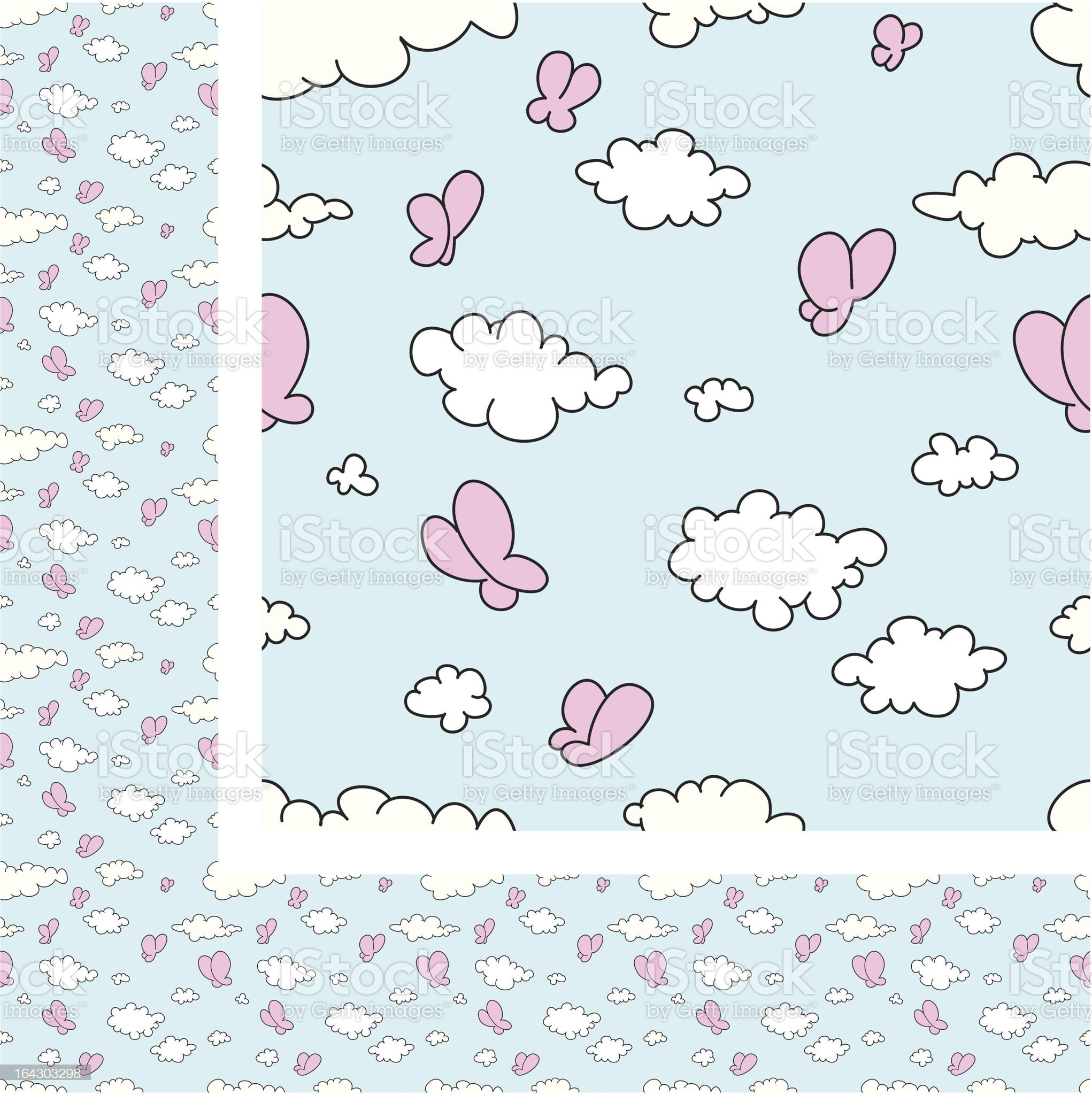 Seamless Wallpaper cloud pattern royalty-free stock vector art