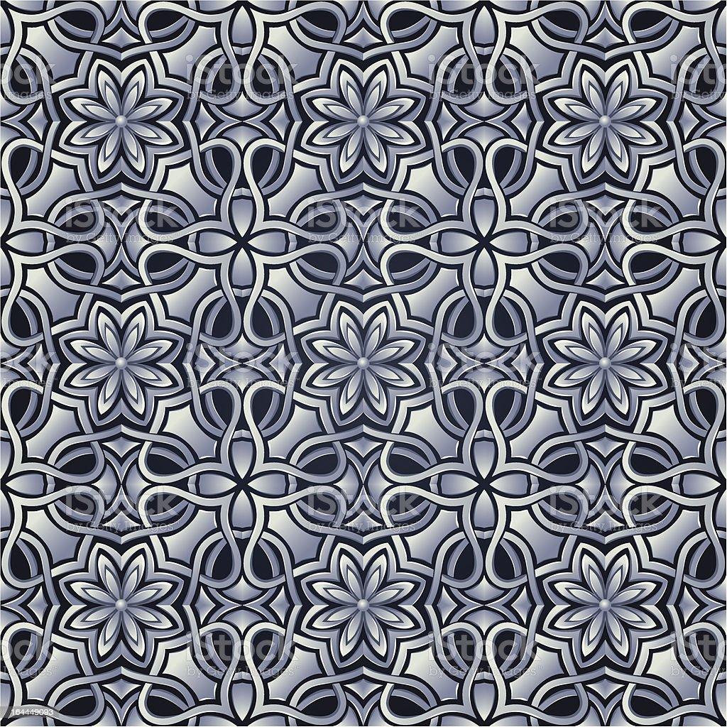 Seamless wallpaper stylized like steel or silver grid royalty-free stock vector art