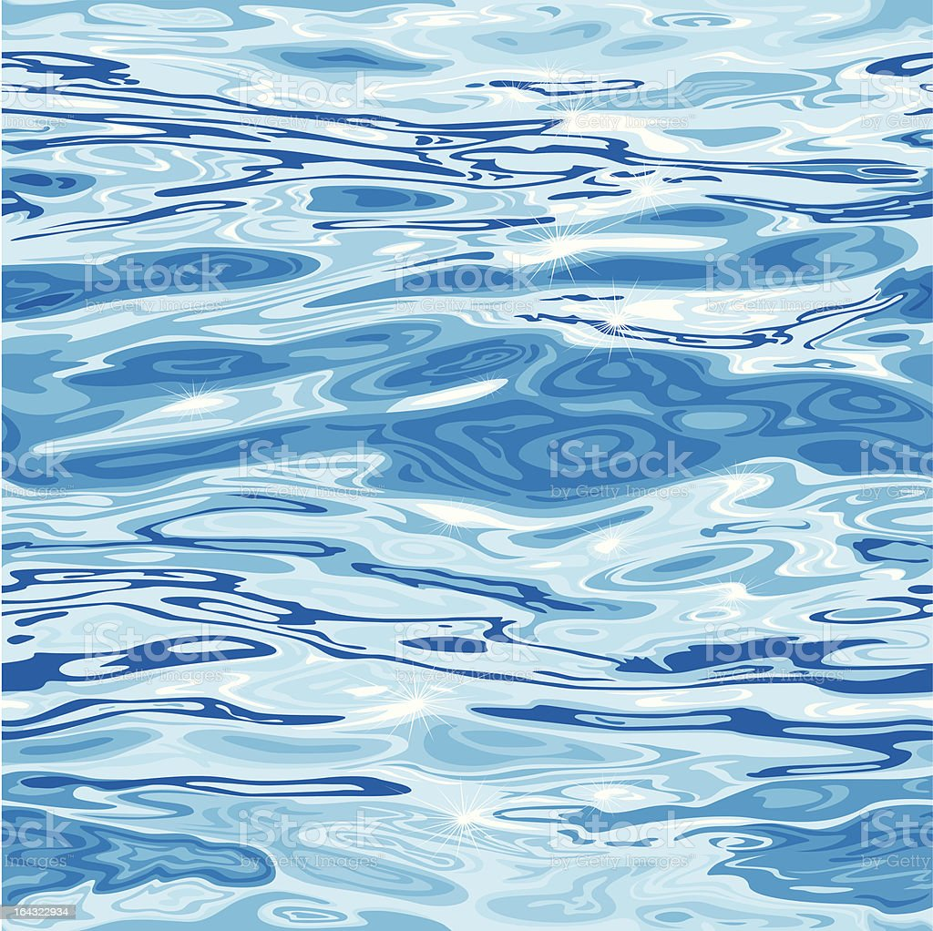 Seamless Water Surface Pattern vector art illustration