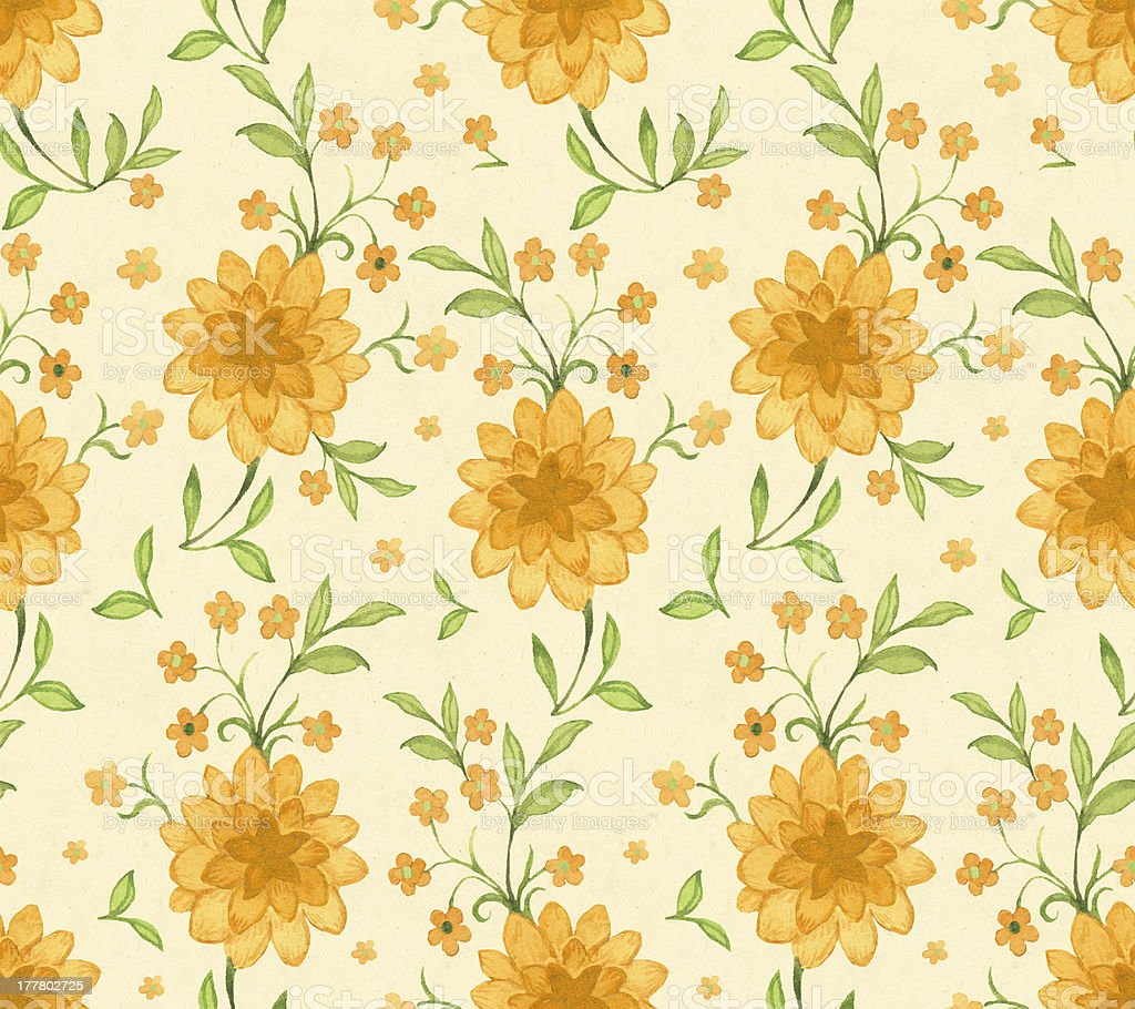 Seamless watercolor floral pattern royalty-free stock vector art