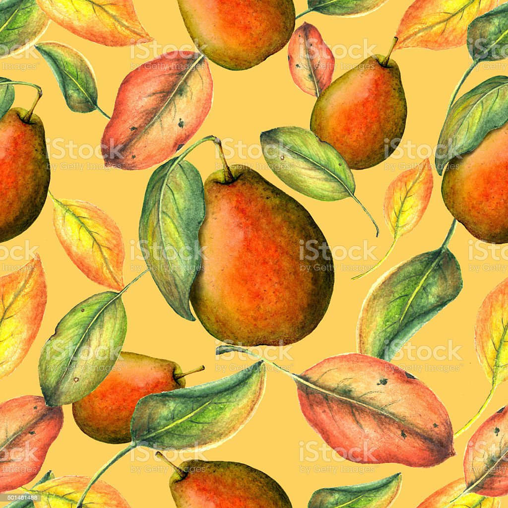 Seamless watercolor pattern vector art illustration