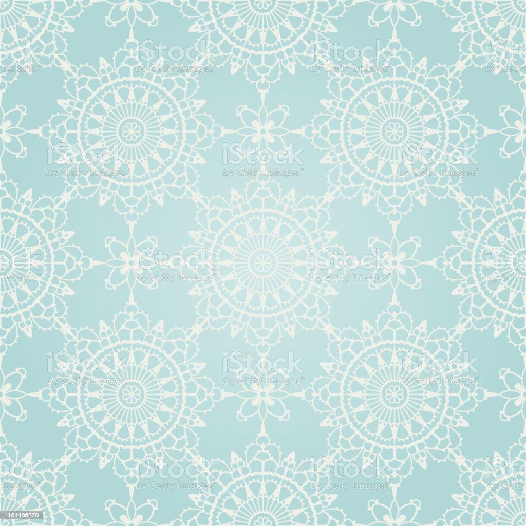 Seamless winter ornament royalty-free stock vector art