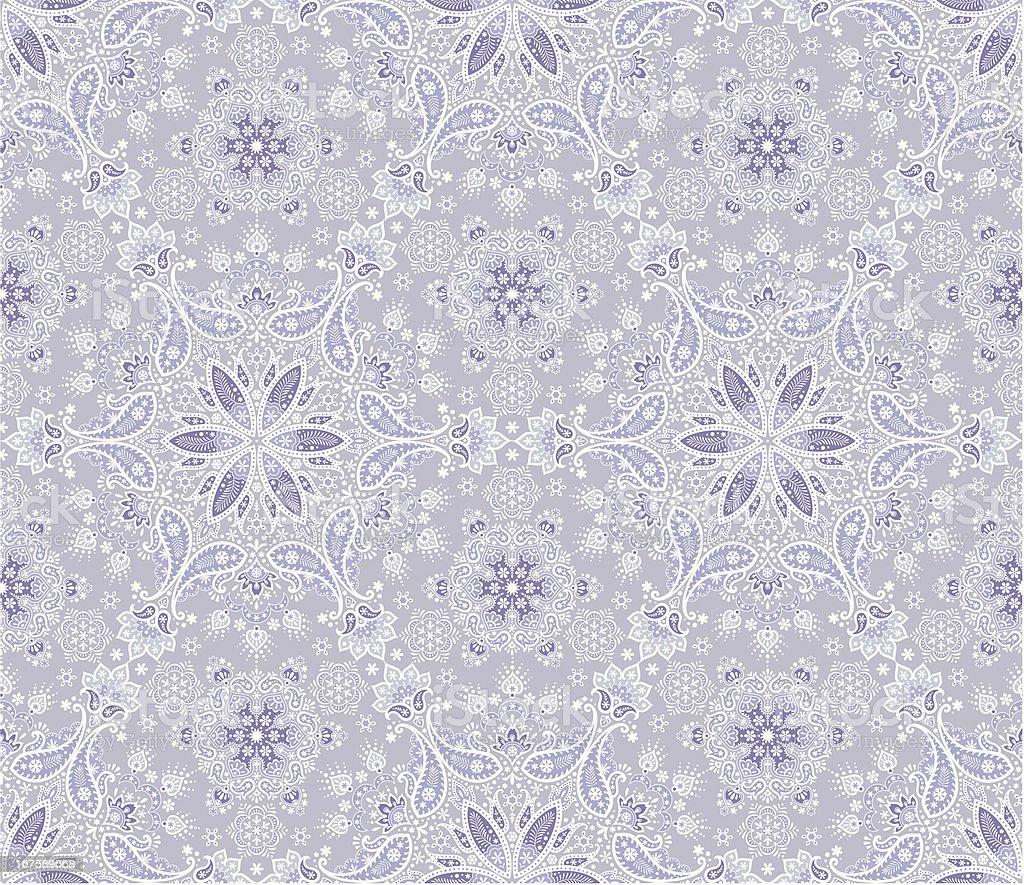 Seamless winter Paisley royalty-free stock vector art