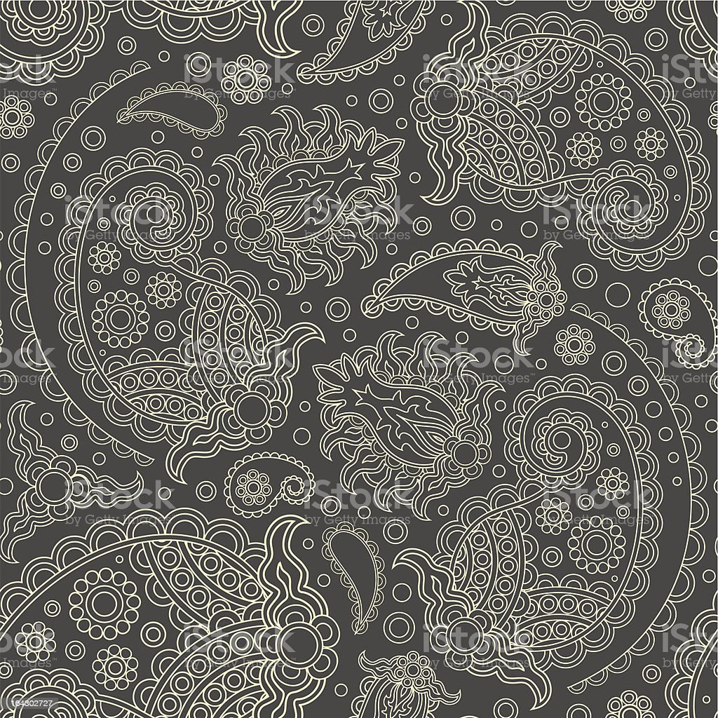 seamless with paisley royalty-free stock vector art