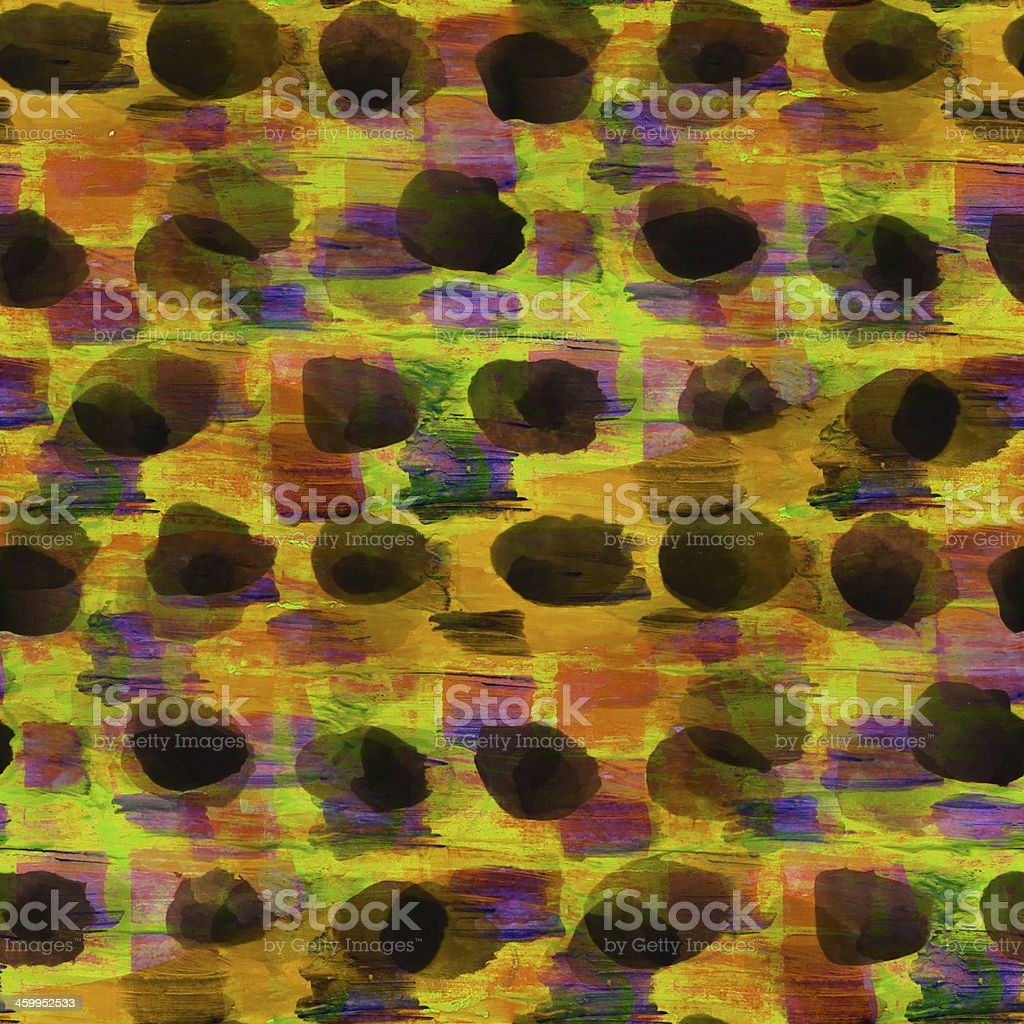 seamless yellow, black cubism abstract art Picasso texture water vector art illustration