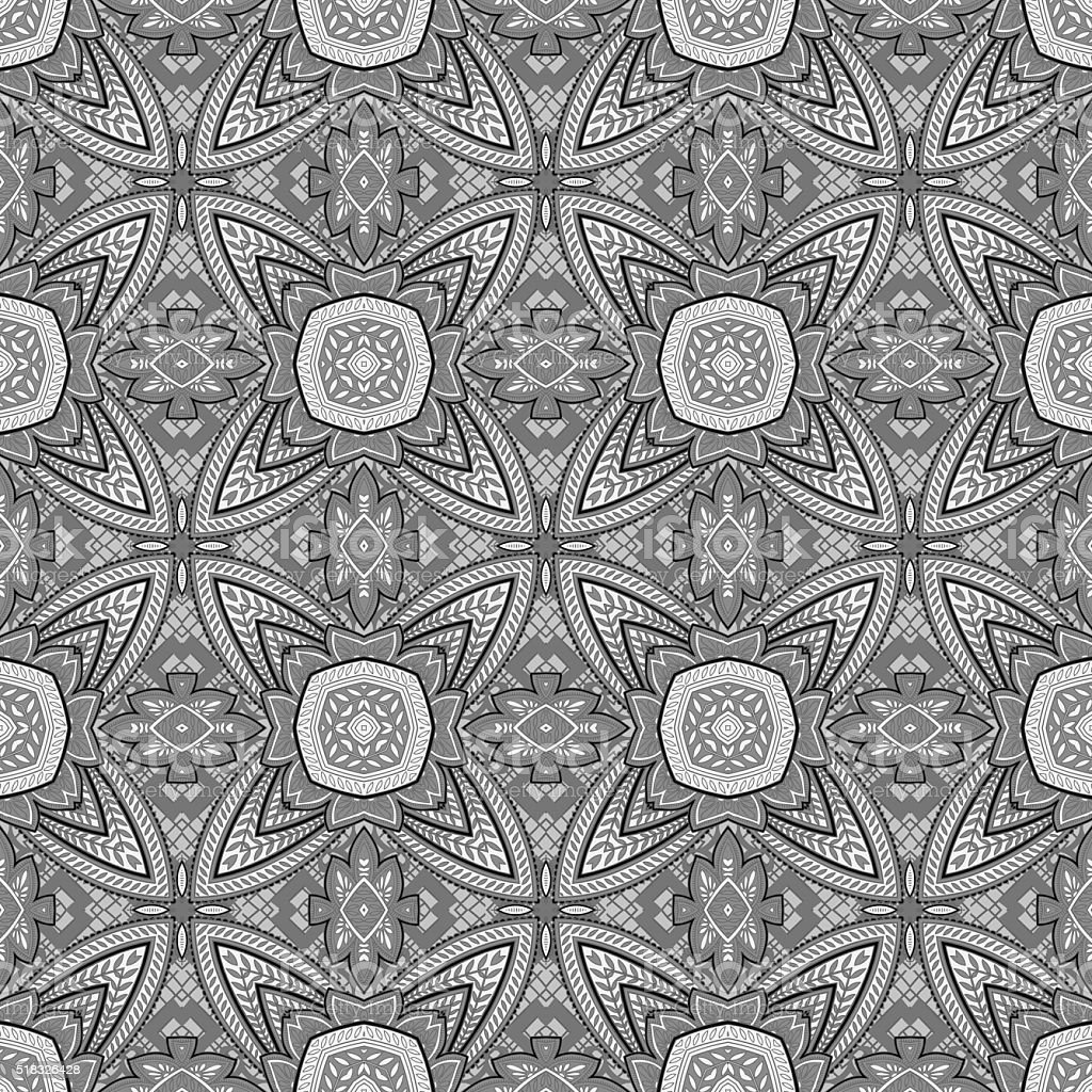 Seamlessly repeating paisley pattern vector art illustration
