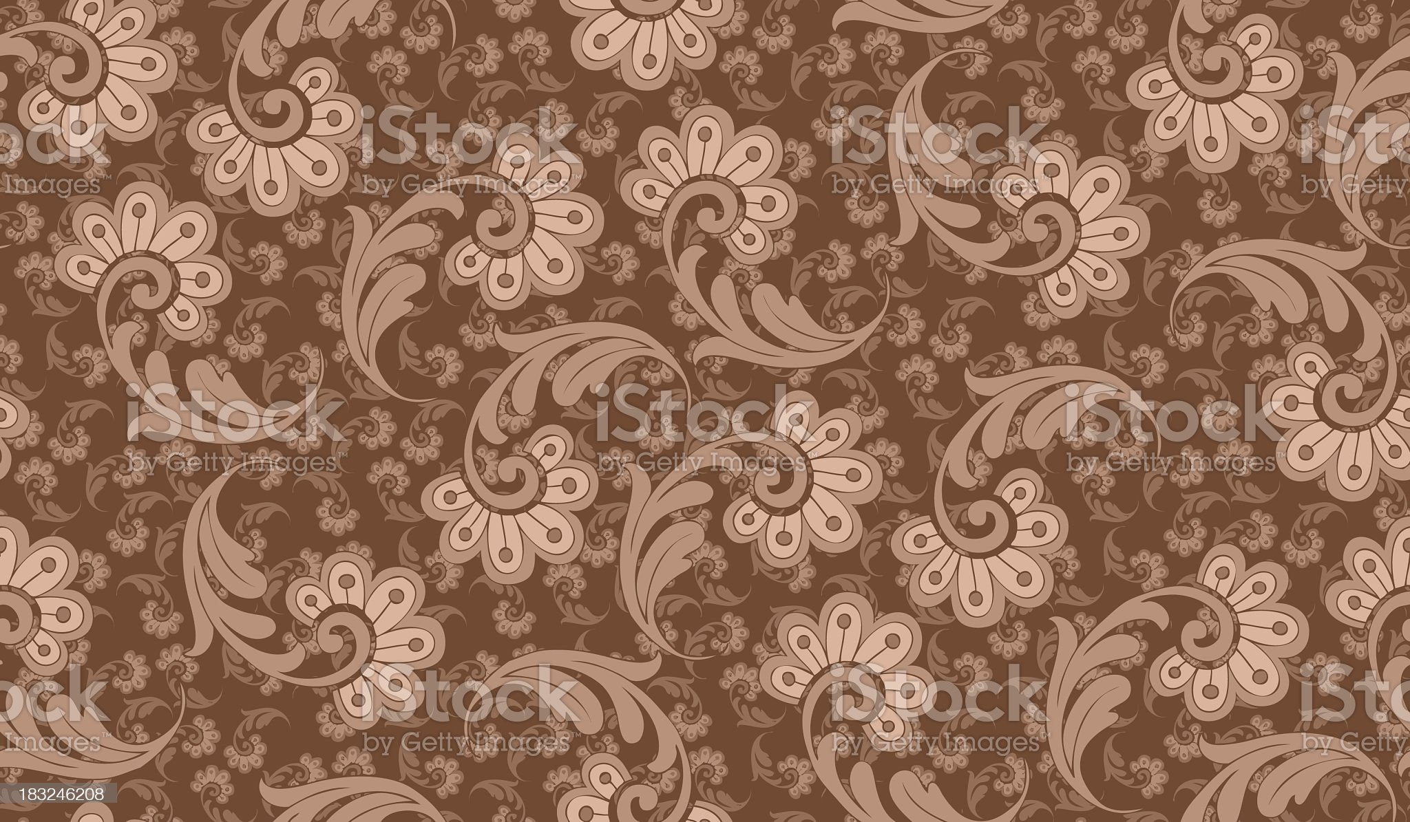 Seamlessly repeating wallpaper pattern royalty-free stock vector art