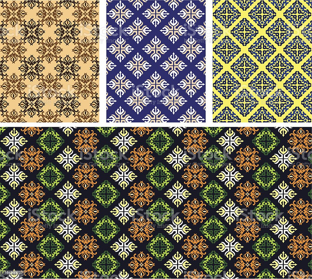 Seamless—Patterns Collection royalty-free stock vector art