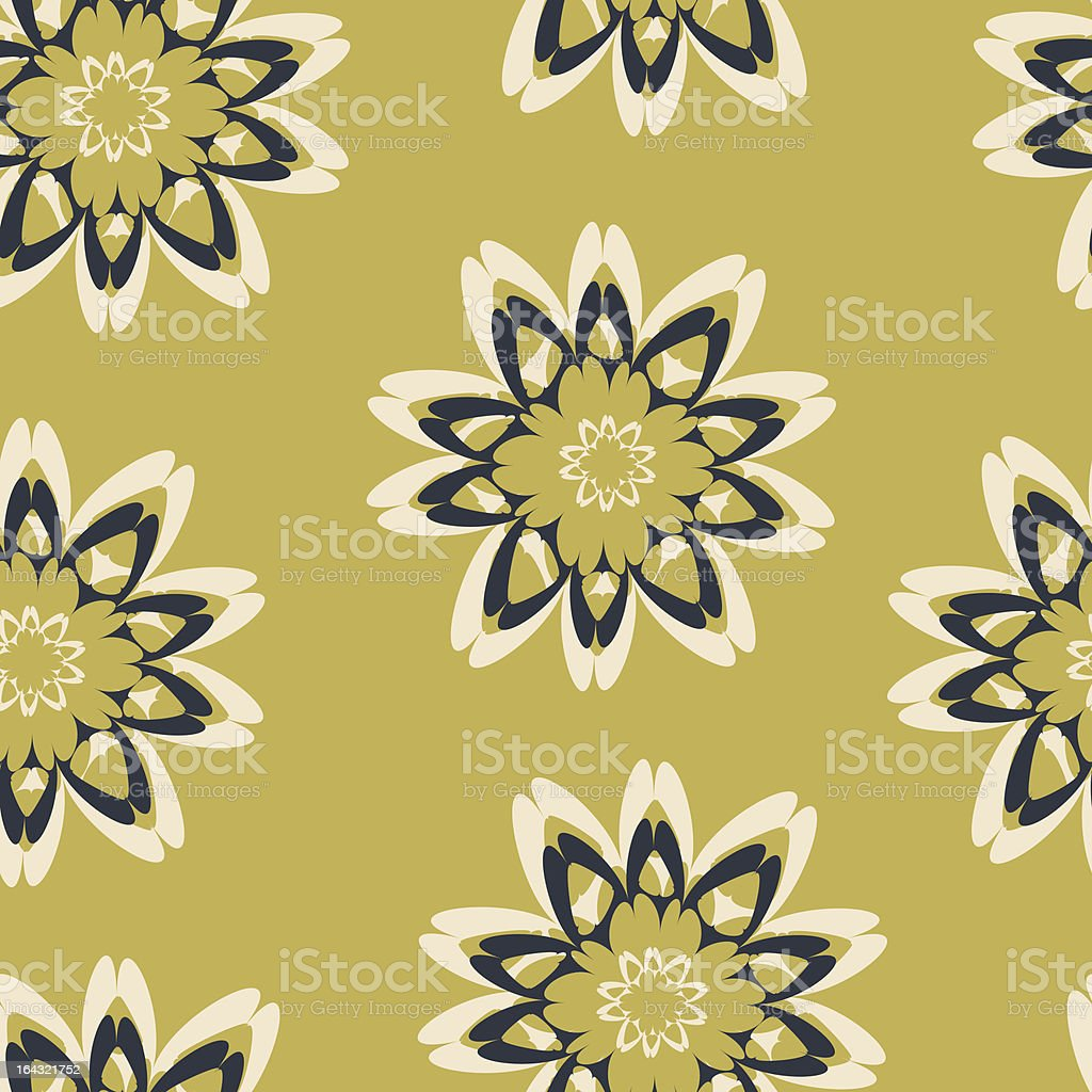 seamlles  flowers royalty-free stock vector art