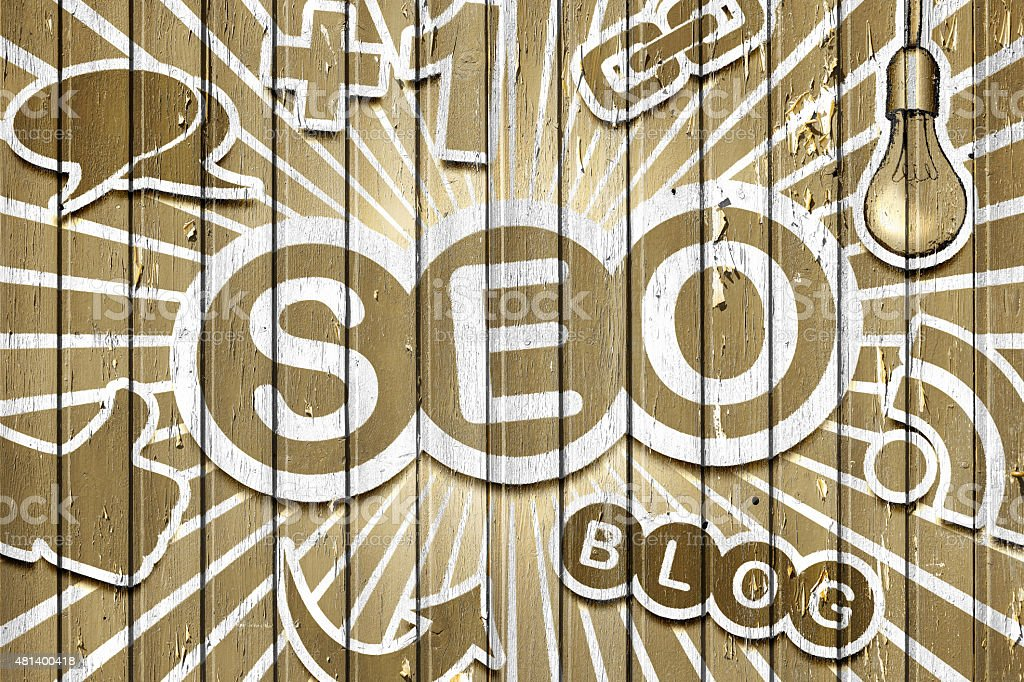 SEO - Search Engine Optimization vector art illustration