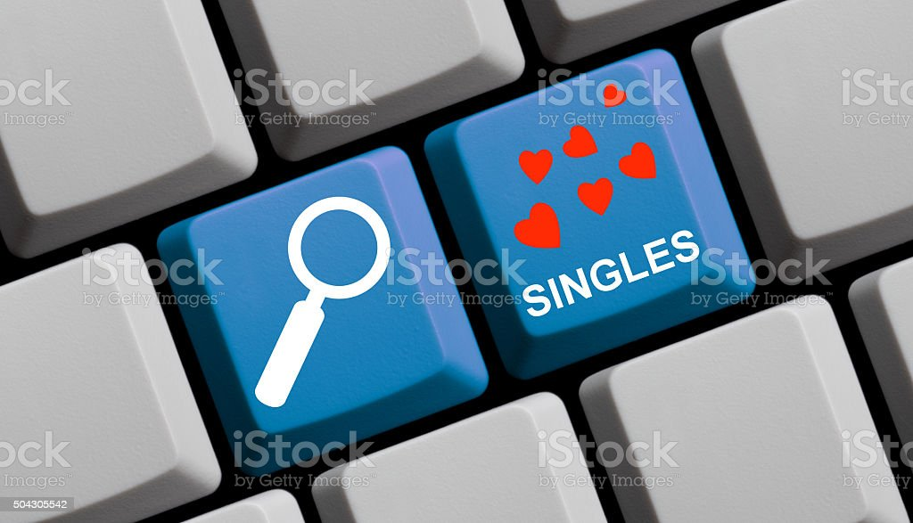 Search for singles online vector art illustration