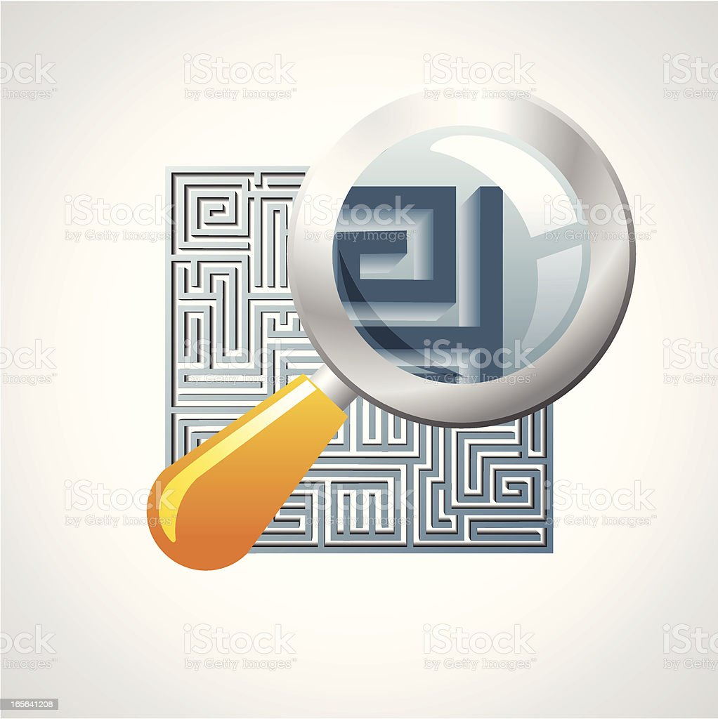 Searching a way out royalty-free stock vector art