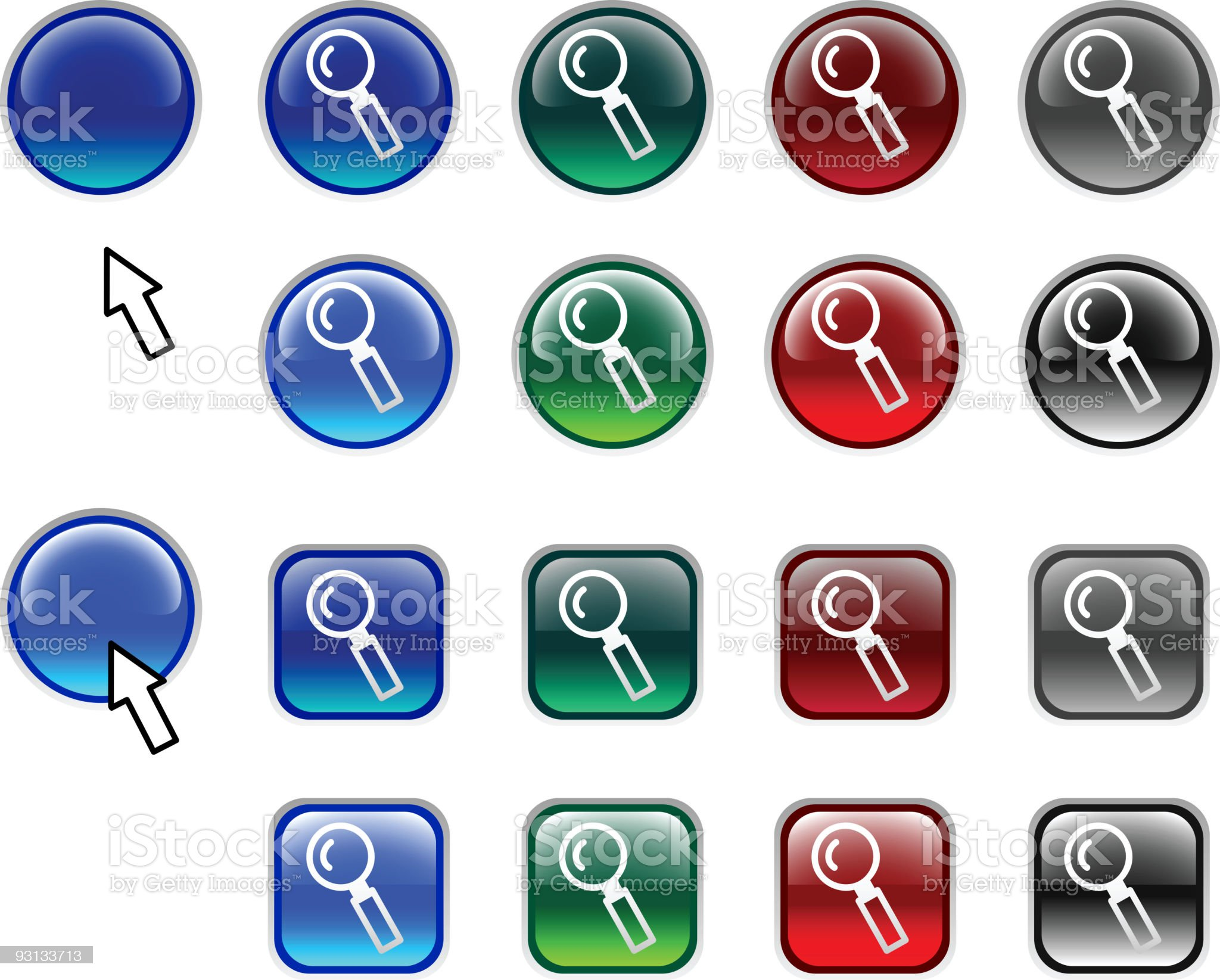 Searching buttons. royalty-free stock vector art