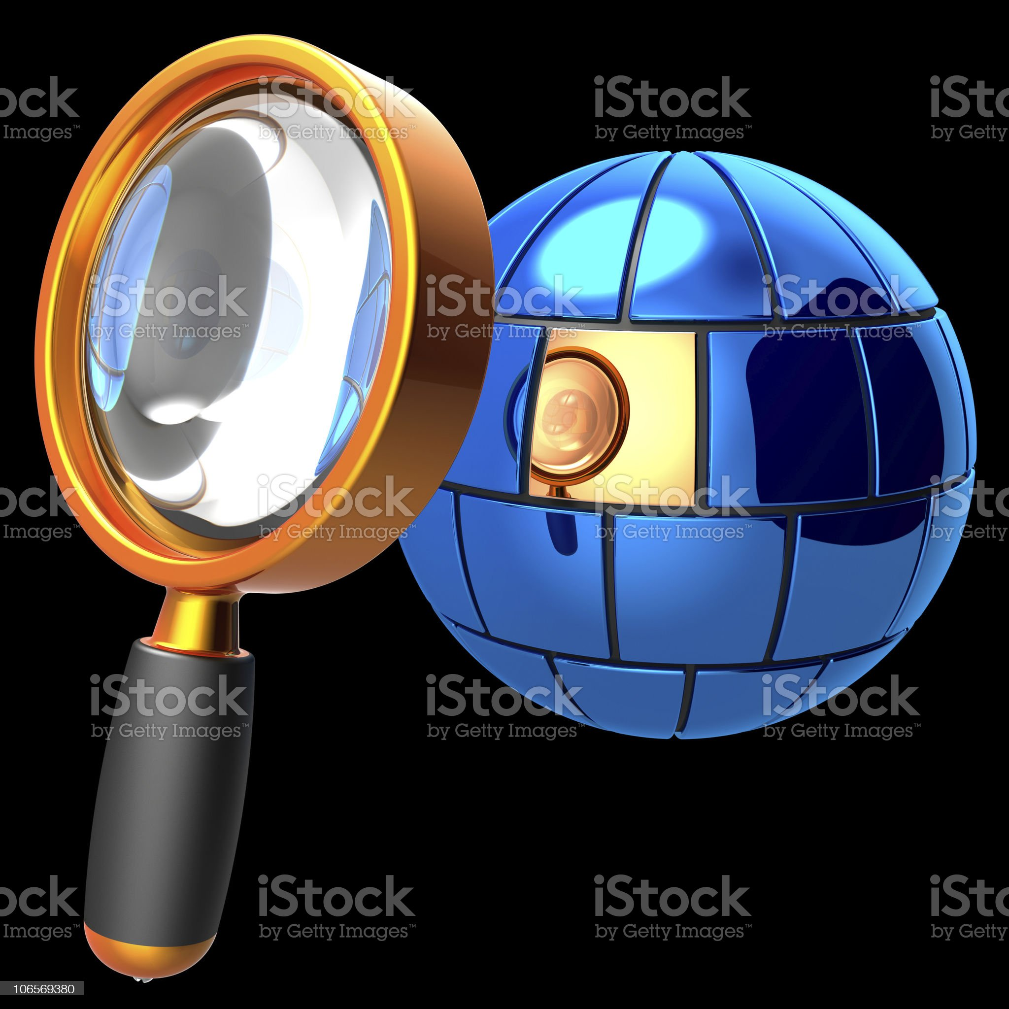 Searching of information data royalty-free stock vector art
