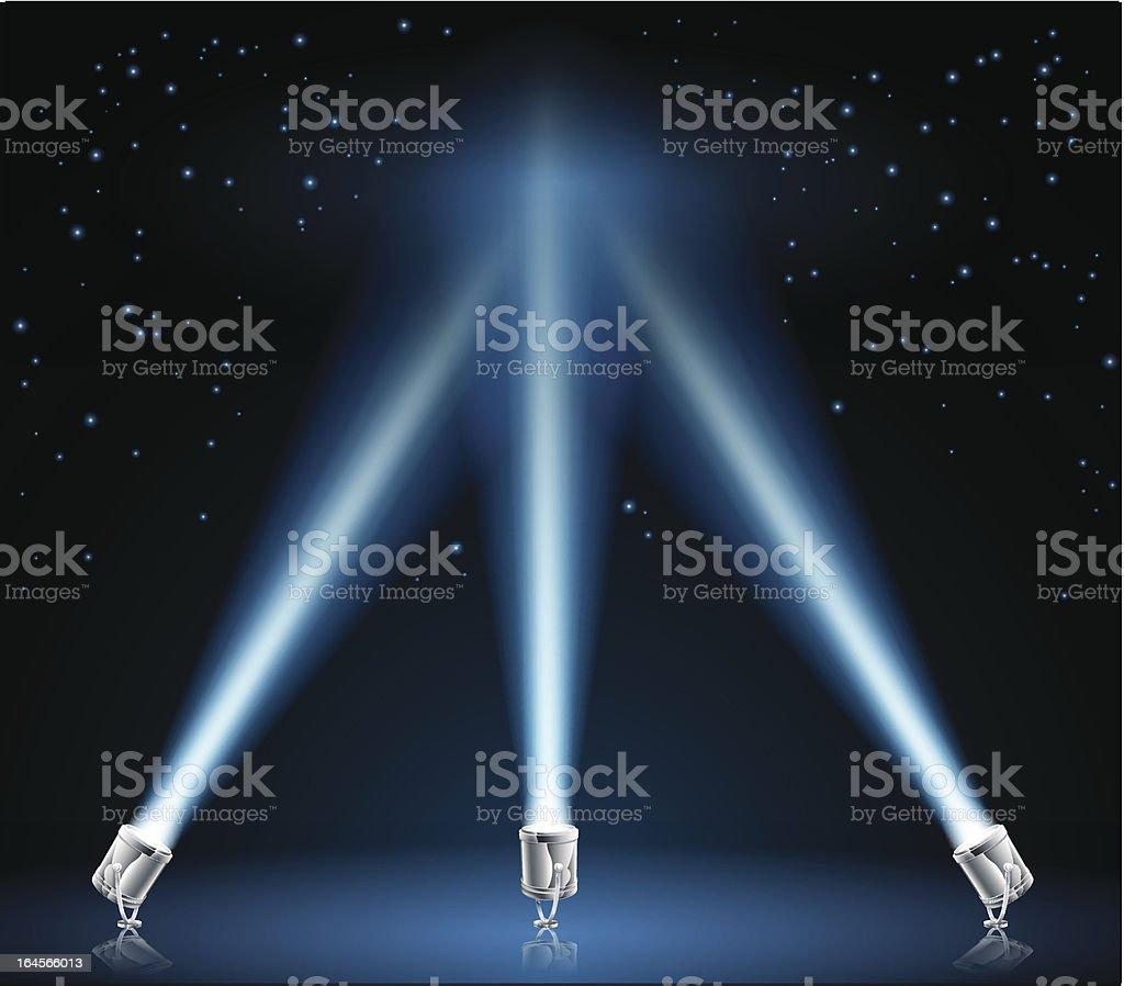 Searchlights or spotlights illustration vector art illustration