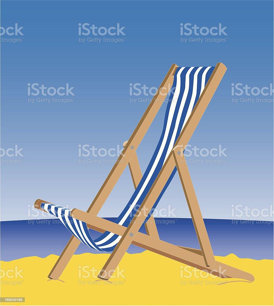 Seaside Deckchair vector art illustration