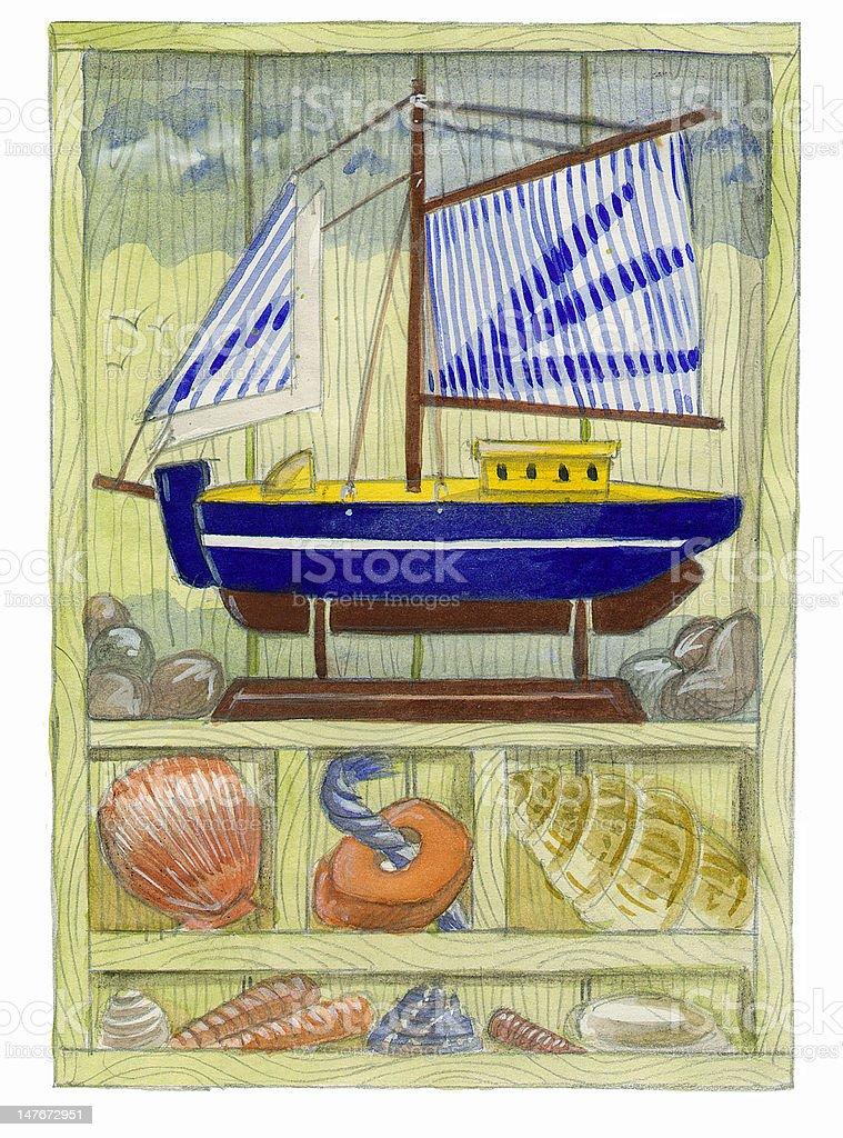 Seaside Memories royalty-free stock vector art