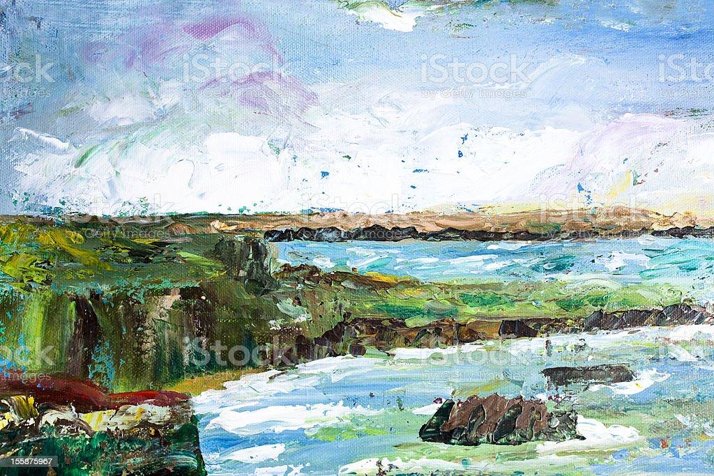 Seaside painting royalty-free stock vector art