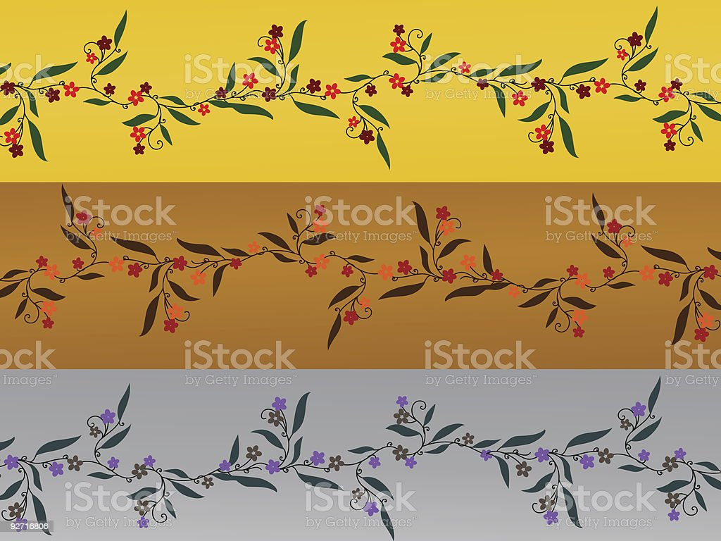 Season Flowers royalty-free stock vector art