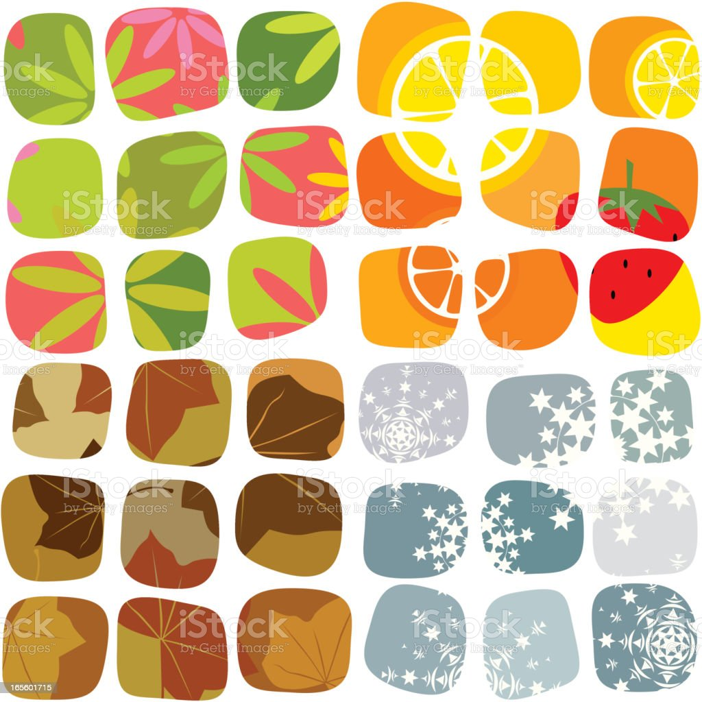 Seasonal mosaic royalty-free stock vector art
