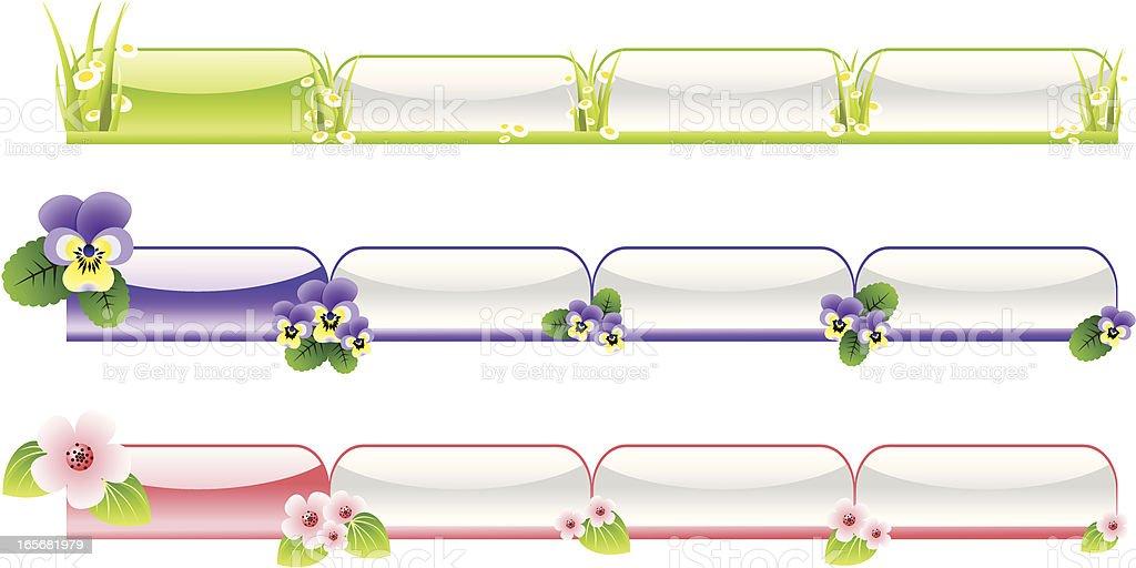Seasonal tabs- Spring royalty-free stock vector art