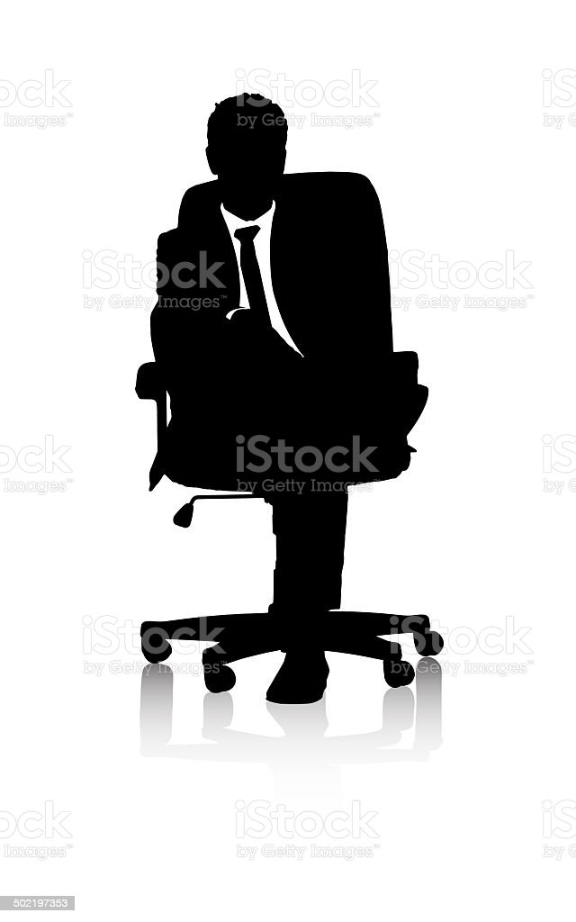 Seated for success vector art illustration