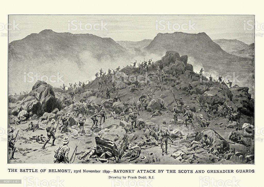 Second Boer War - Battle of Belmont vector art illustration
