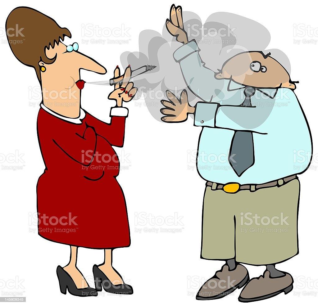 Second Hand Smoke vector art illustration