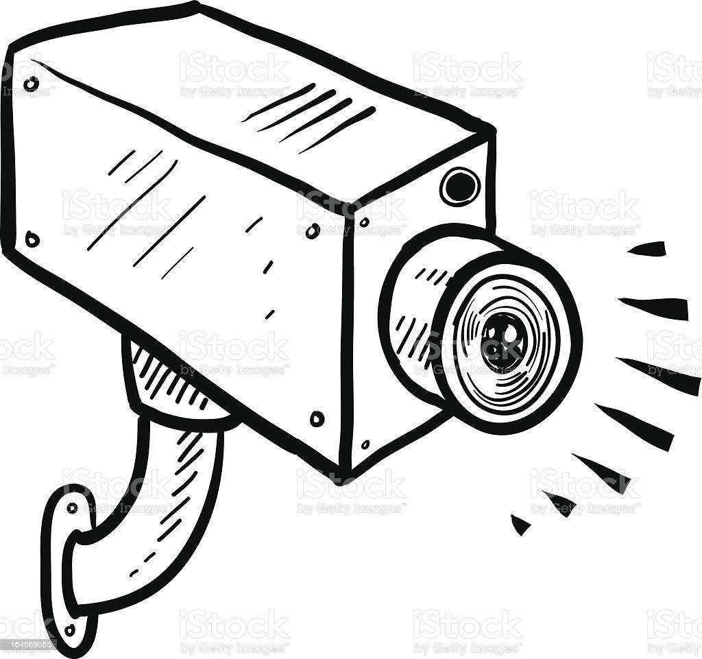 CCTV security camera vector sketch vector art illustration