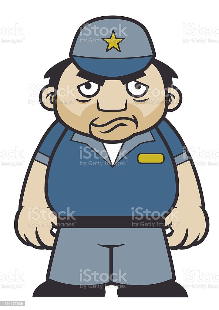 Security Guard royalty-free stock vector art