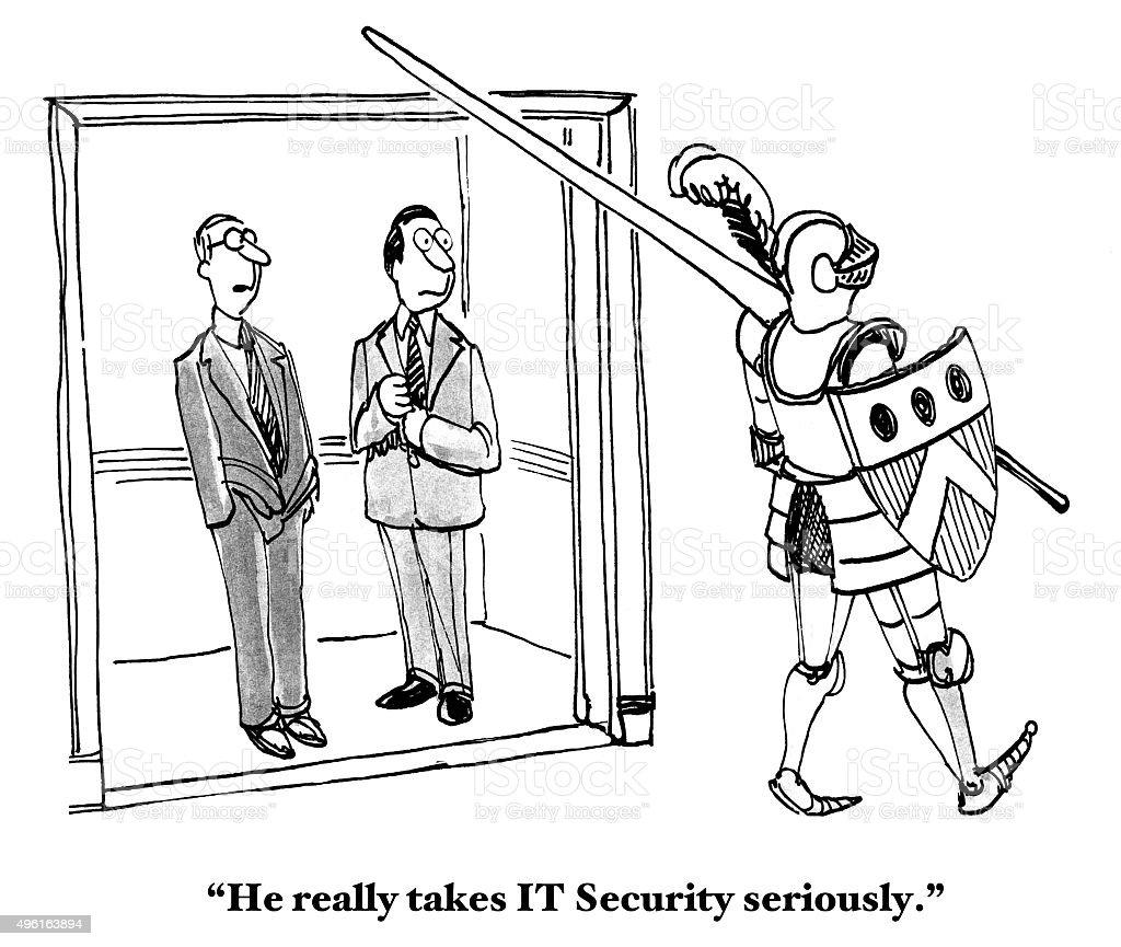 IT Security vector art illustration