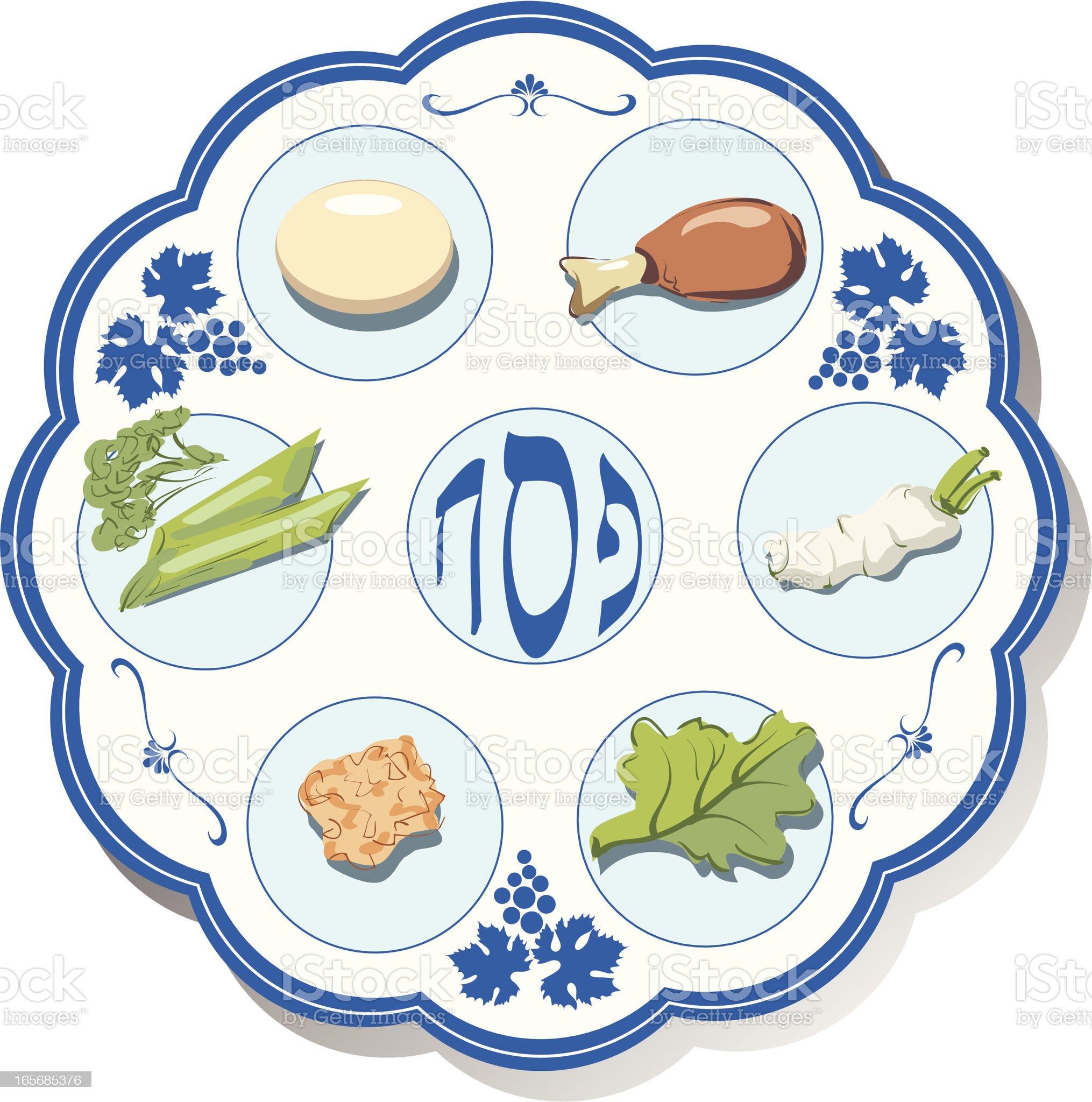 Seder plate royalty-free stock vector art