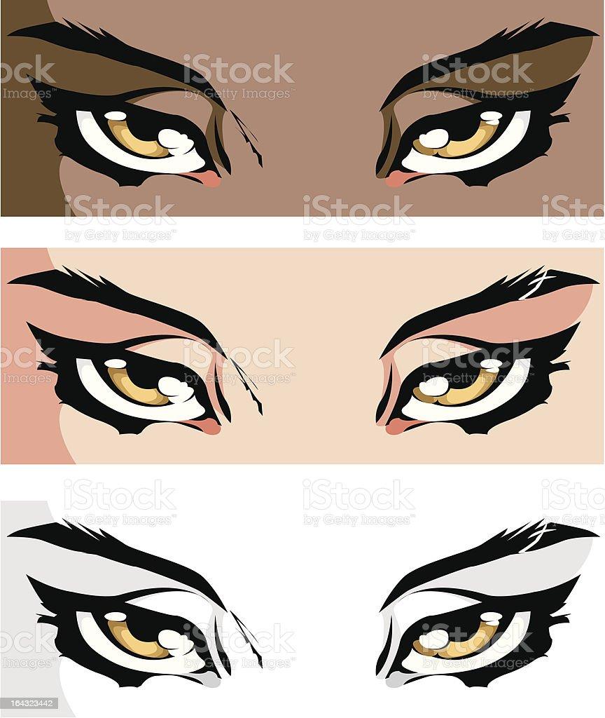 Seductive Eyes royalty-free stock vector art