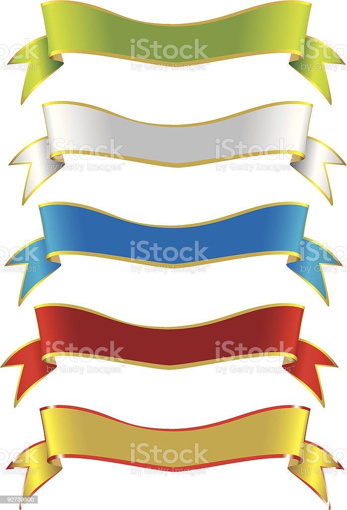 Selection of Ribbons (VECTOR) royalty-free stock vector art
