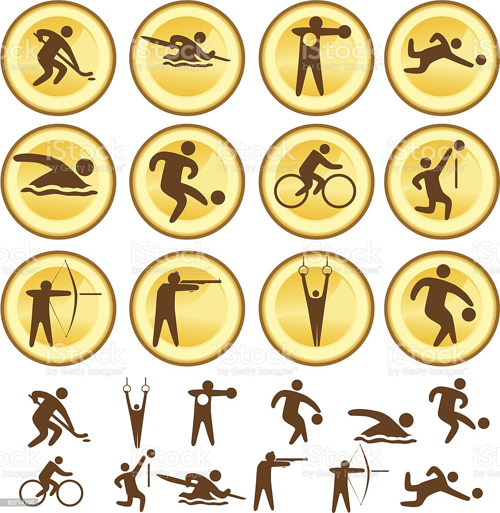 Selection of sports icons royalty-free stock vector art