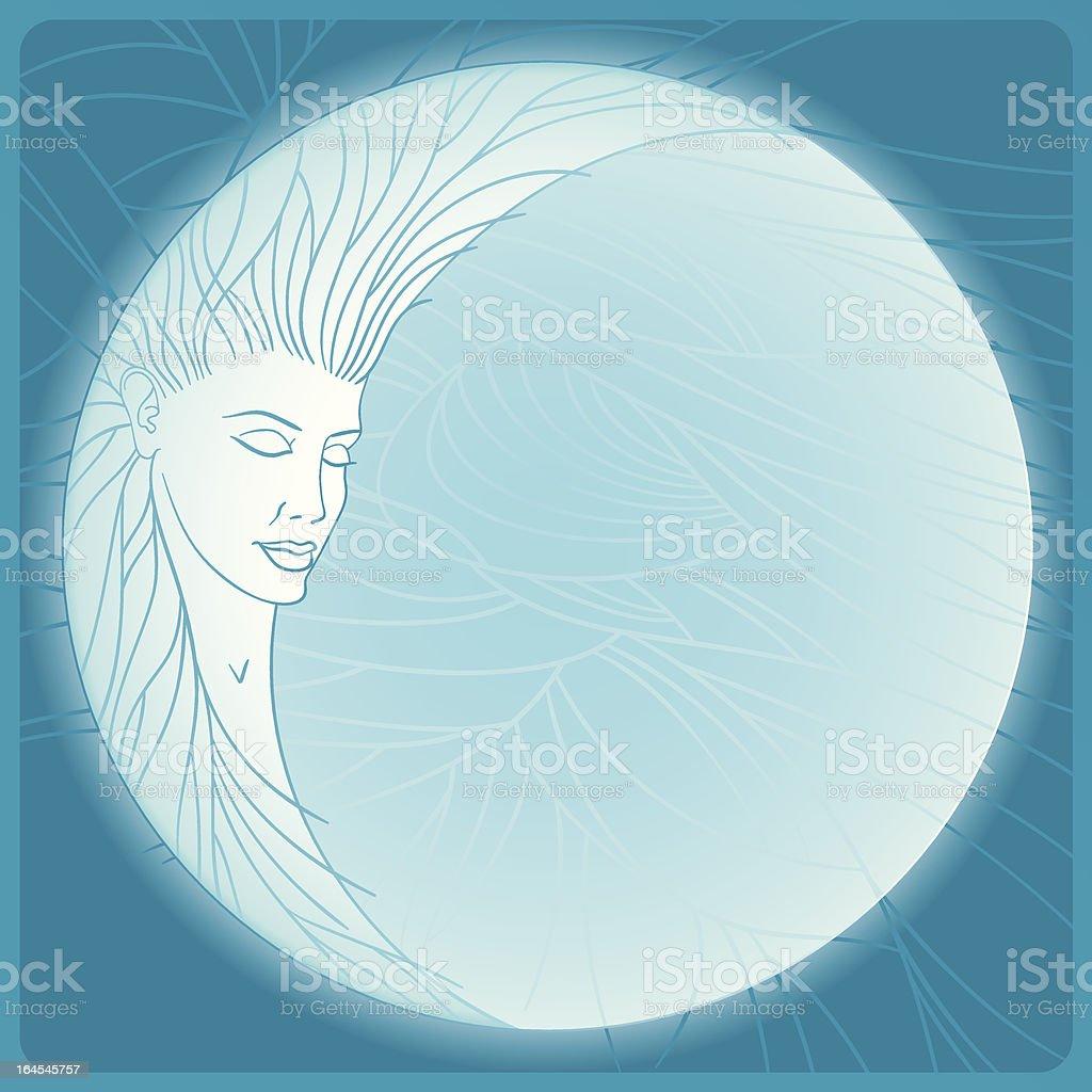 Selene (vector) vector art illustration