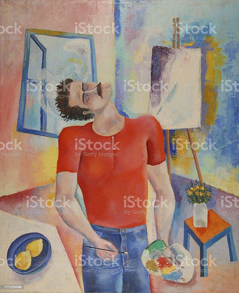 selfportrait royalty-free stock vector art