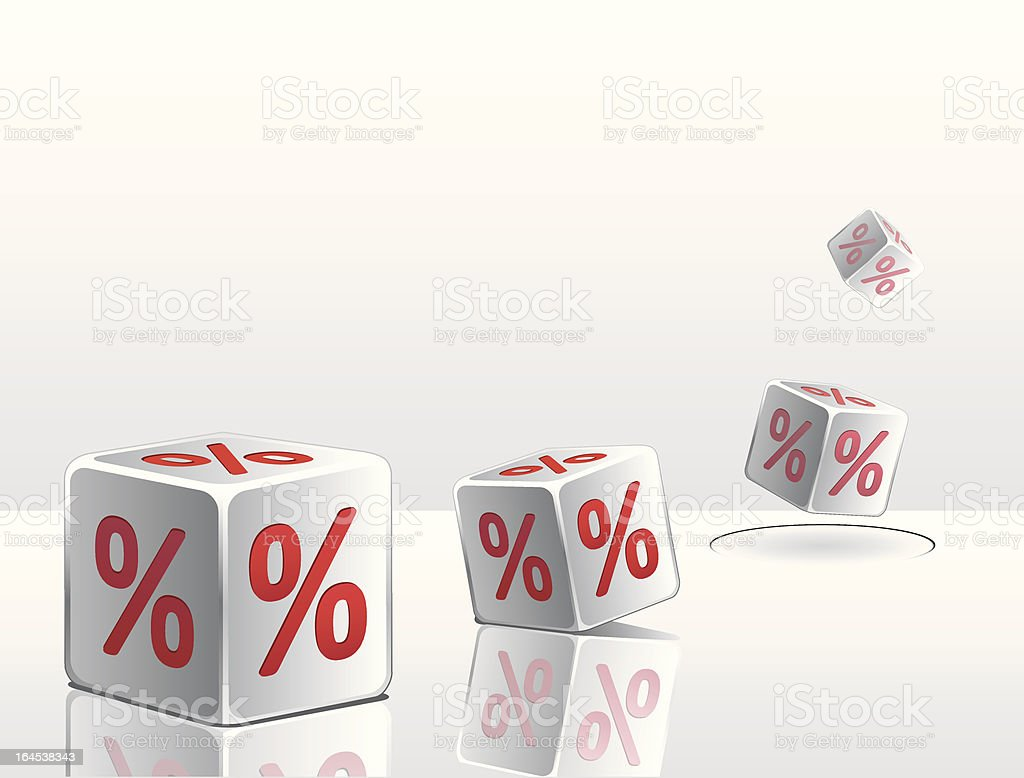 Sell dice royalty-free stock vector art