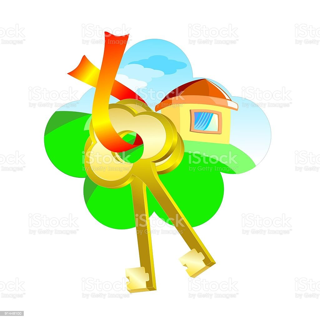 Sell house business concept royalty-free stock vector art