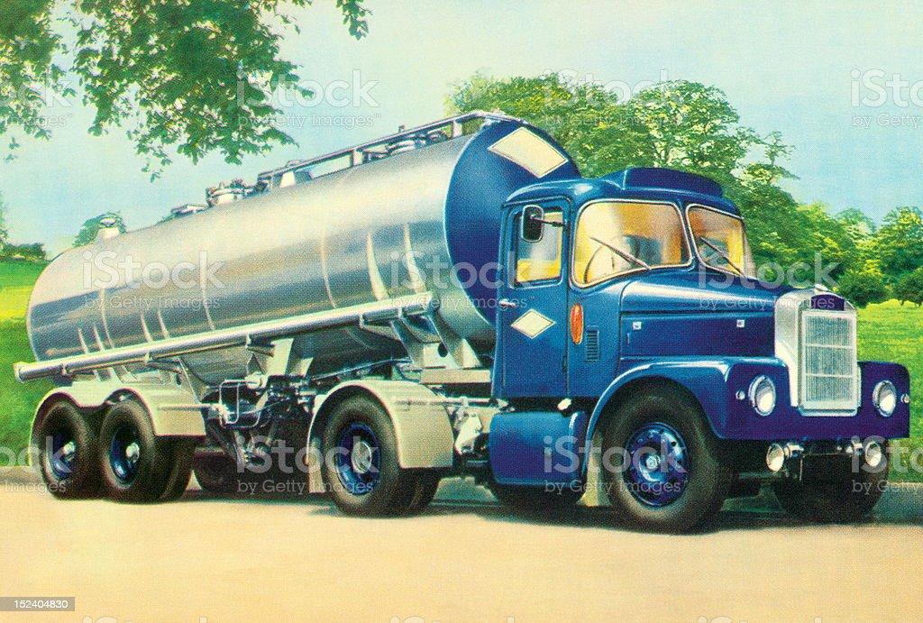 Semi Tank Truck royalty-free stock vector art
