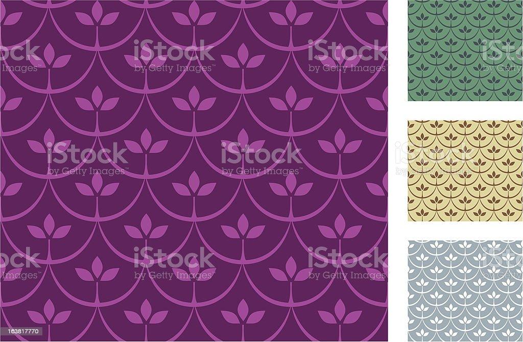 Demi-cercle feuilles (motif sans couture stock vecteur libres de droits libre de droits
