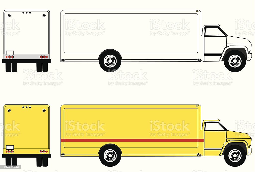 Semi/moving truck royalty-free stock vector art