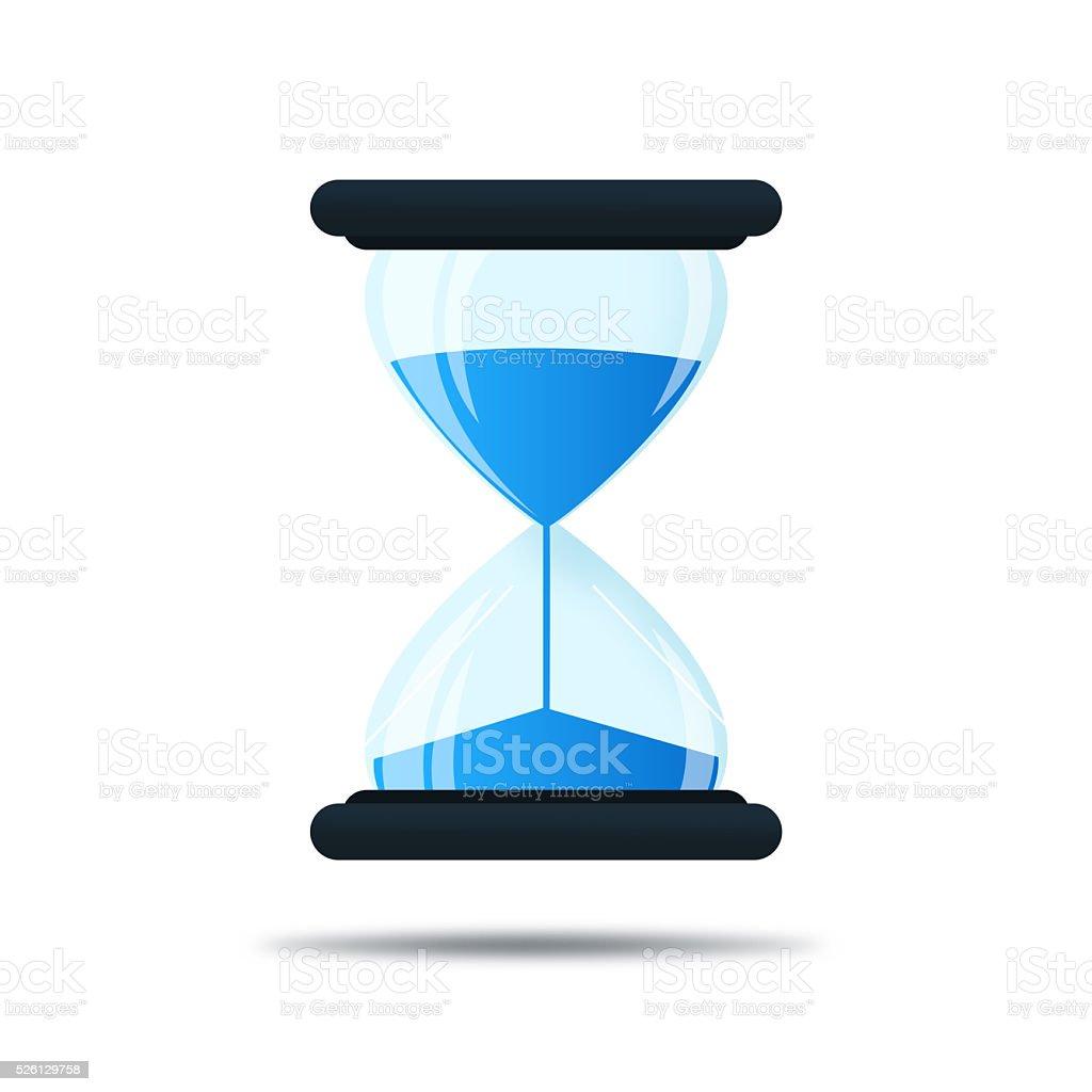 send clock icons on white background vector art illustration