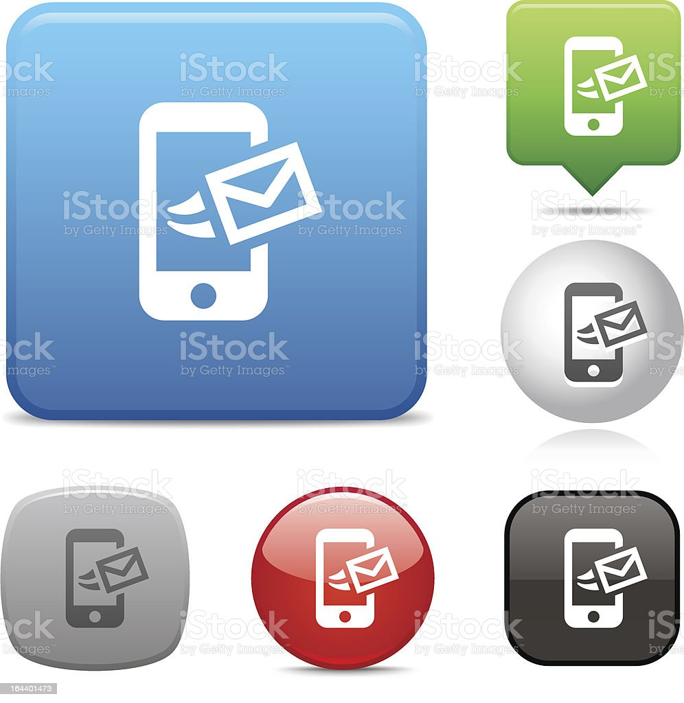 Send Message icon royalty-free stock vector art