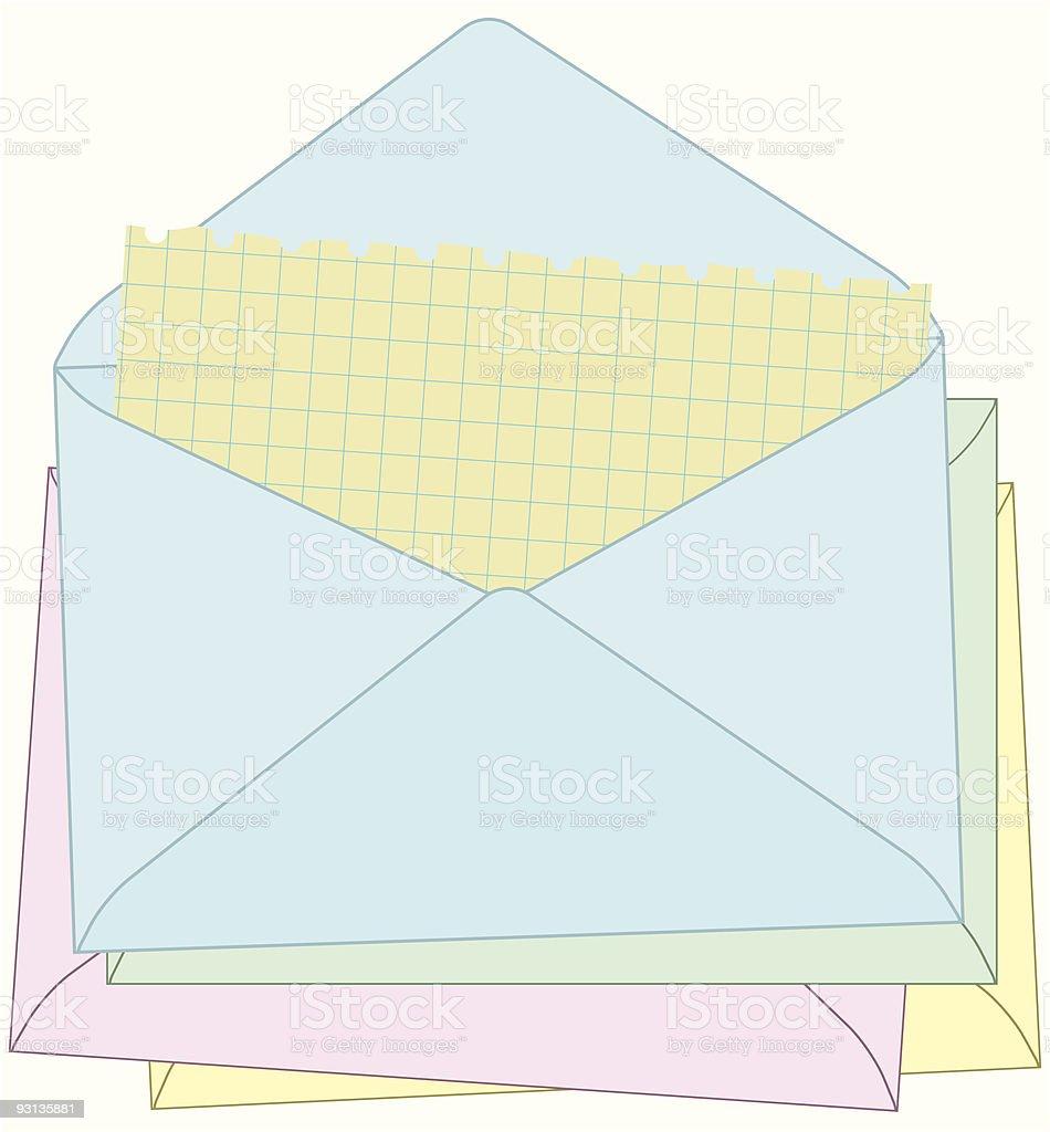 Sending my mail. royalty-free stock vector art